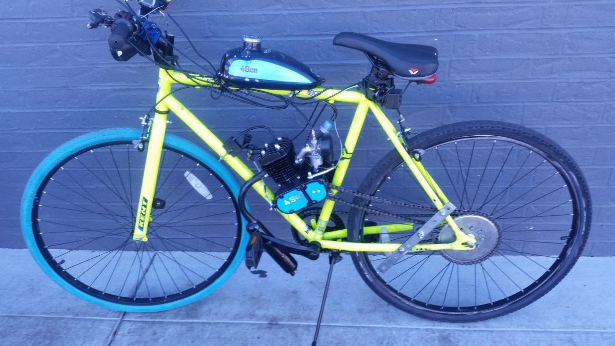 Selling my kent 700c 80cc 2 stroke motorized bicycle | Motorized