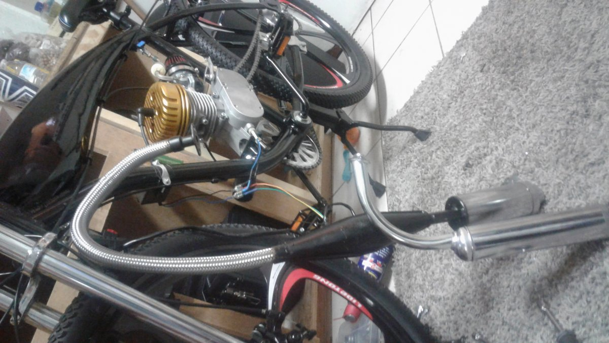 Exhaust choices??   Motorized Bicycle Forum   Motored Bikes