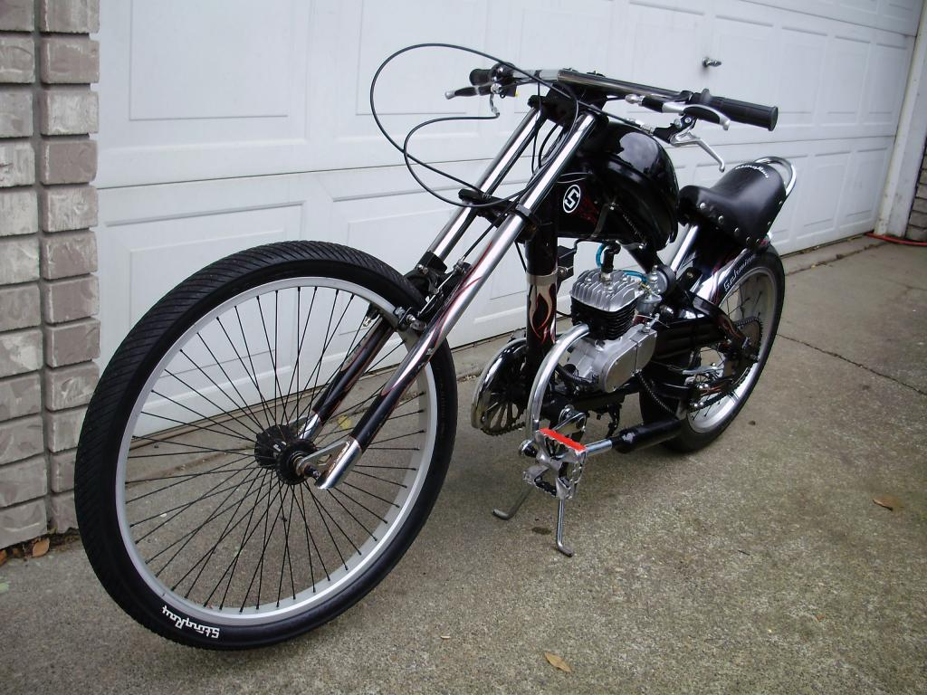 Image Gallery motorized chopper bicycles