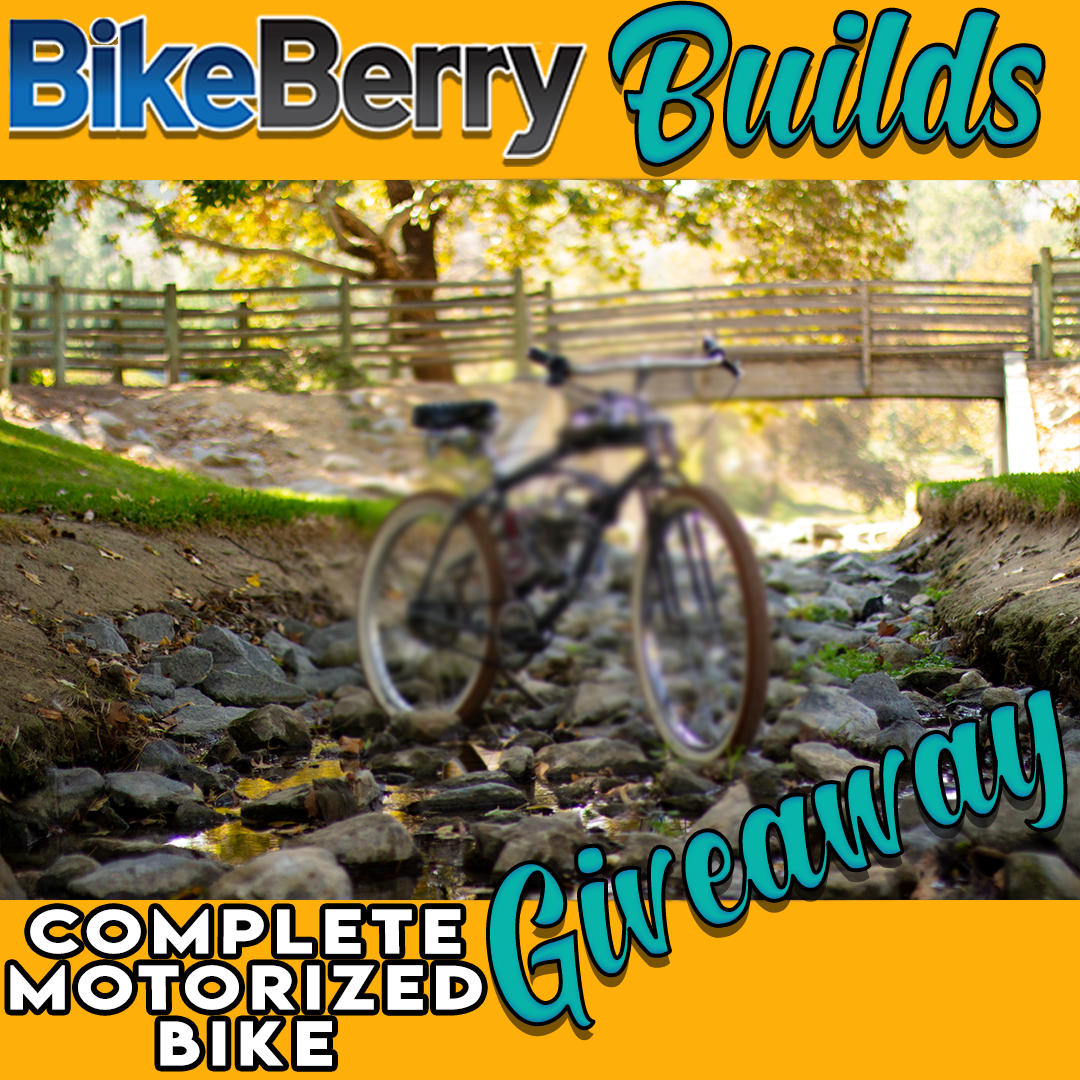 Bikeberry Builds Complete Motorized Bike Giveaway