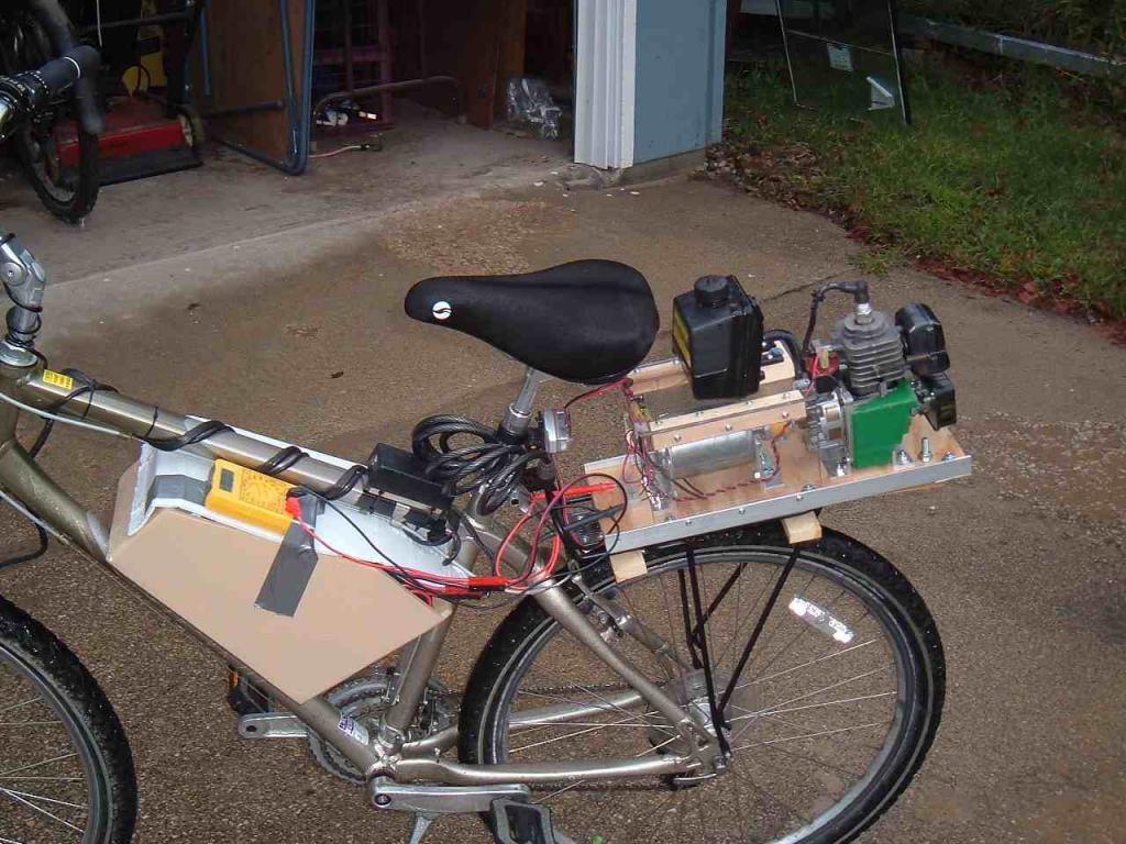 weed eater motor on bike