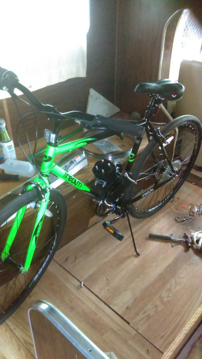 Motorized Bicycle Skyhawk Update Engine Start