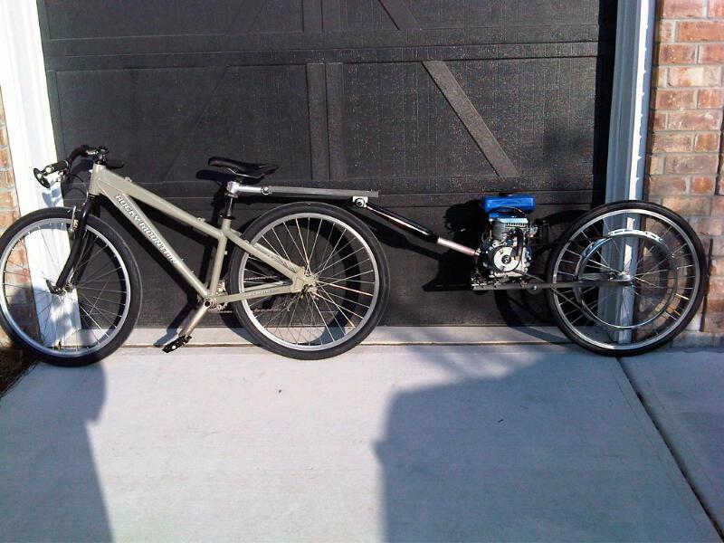 Pusher Trailer New Build Motored Bikes Motorized Bicycle Forum