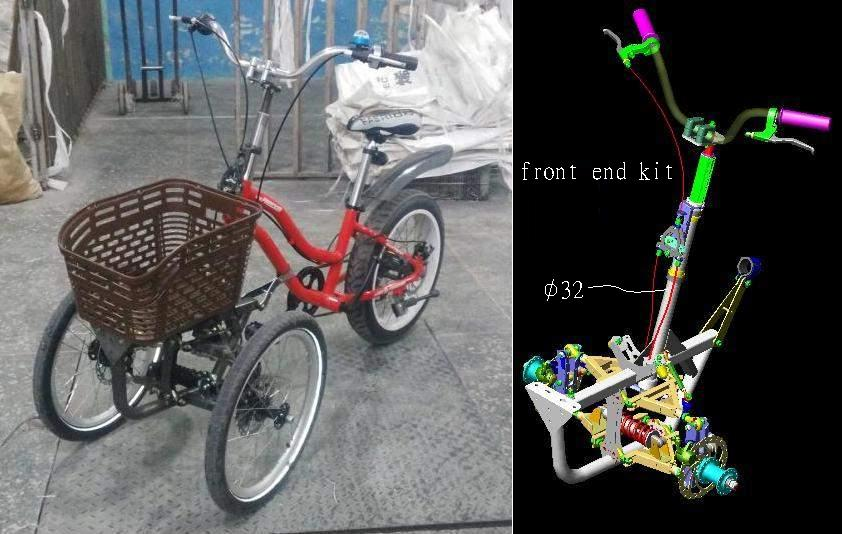 leaning trike front end kit Bicycle.JPG