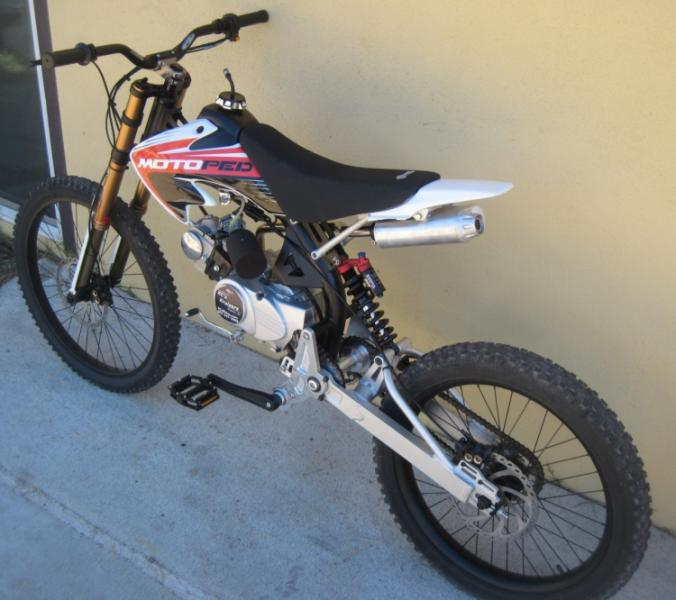MotoPed with 86/88cc 4-stroke 4-speed semi auto gears, brand new ...