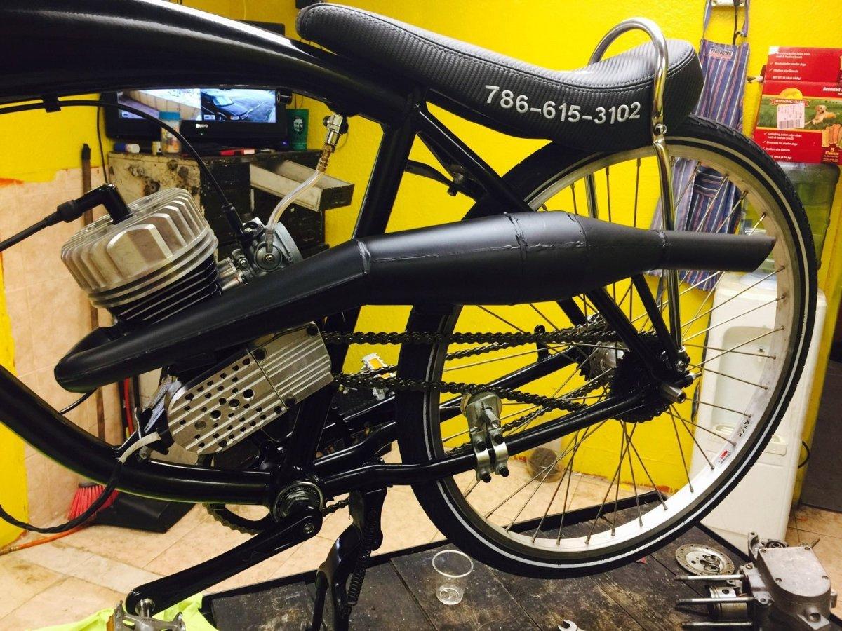 Snake-Shape-Exhaust-Pipe-Muffler | Motorized Bicycle Forum