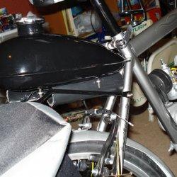 Rear mounted tank detail