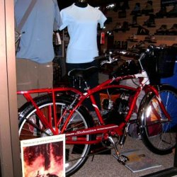 Motorized bike, aluminum frame, 2 stroke