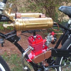Fuel tanks are old Pyrene pump type fire extinguishers from the 1800's.