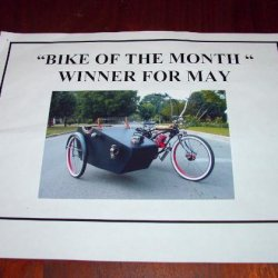 "I entered a bike of the month contest at my local motorcycle shop ""CYCLES UNLIMITED"" and won."