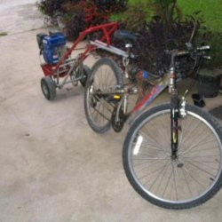 Old Bike with trailer when first built