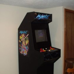 "MAME finished - plays 2000+ arcade games from 70's through the 90's. PC based w/20""tv monitor."