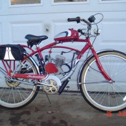 006 This my 2008 Schwinn Windwood Cruiser with a 66cc two strock.