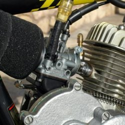 Dellorto air filter - 0.65 main jet - .045 idle jet - w7 needle - circlip placed on the 4th slot from the top.
