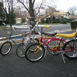The old school bikes.
