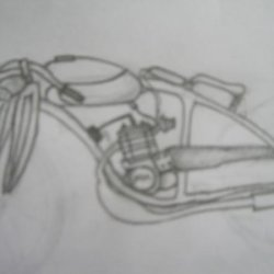 crap sketch of wut i want on my bike like the fuel tank and seat design and new handlebars