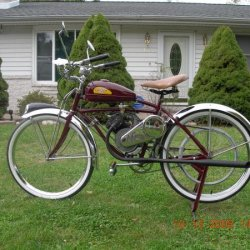 My 1946 Whizzer on prewar BF Goodrich bicycle