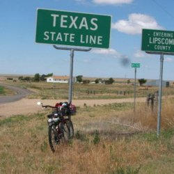 Jun 2006 Guiness Book of World Records, shortest one way route through Texas