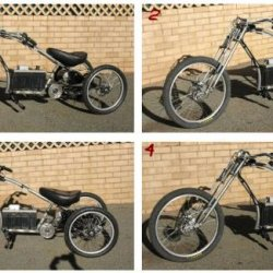Series pics of trike as was ridden for a month BEFORE being stripped for prep & painting