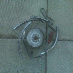 disintergrated wheel chaindrive side