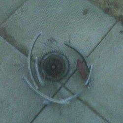 disintergrated wheel cone side