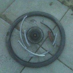 what my wheel looked like off the bike