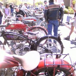 Showing With the Great Bikes Of yester years..
