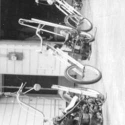 67'-68' Stingray Choppers we made in grade school. Some had centrifugal clutches. Some had spring loaded friction clutches. All were made with scrap m