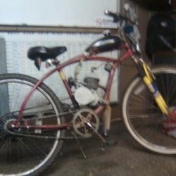 "My first bike. A very used Huffy. Known as ""The Scruffy""."