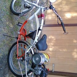 The finalized bike. Projekt Dragonfly v2.