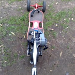 my motorised skateboard almost done just have to weld disc caliper mount on