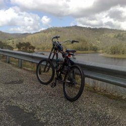my motorised bike when i went for a ride thru the hills