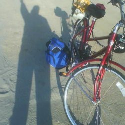 my shadow and step through bike