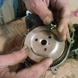 42 Remove clutch flywheel