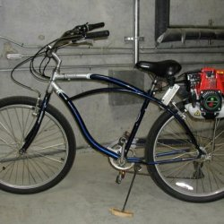 Schwinn Jaguar with 31CC 4-cycle Friction Drive kit.