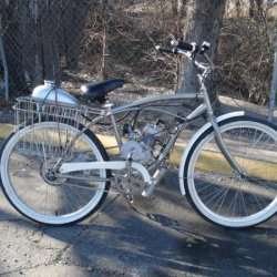 Motorized Huffy Cruiser bought off Craigslist