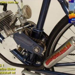 EziRide Cycles Australia motorised/motorized bicycle jack shaft kit.