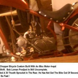 micargi chopper bicycle with an 88cc motor 4 spd trans
