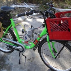 Cargo Bicycle with Engine weighs right at 45 pounds.