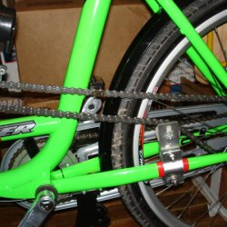 I added about 8 inches of Chain, due to wheelbase of this bicycle and forward location of Engine.