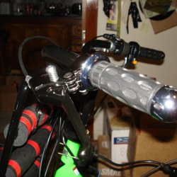 Completed Clutch Lever and Handlebar Grip.