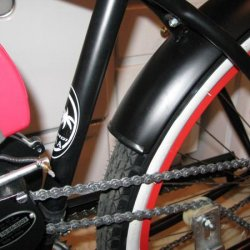 "Here's what the modified rear fender looks like on the Macargi ""Tahiti"". It turned out great. It's pretty light, too."