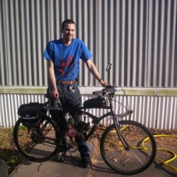 posing with chinese motorcycle 1