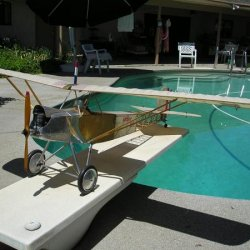 Proctor Parasol with engine  I also build Model R/C Airplanes!