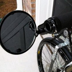 Nice eBay motorcycle mirrors Aluminum & Glass.