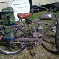 This is a pic of the paratrooper packs I mounted on the back of the bike.