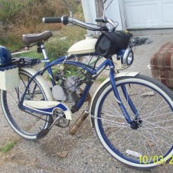 It looks like it was designed to be a motored bike from the ground up- that was my goal