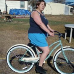 Here's a shot of my wife and her new Huffy Cranbrook