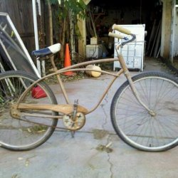 Future project for my little brother.  A 1978 AMF Roadmaster.  Should make a nice Ratbike project.  Estate sale 25 bucks.