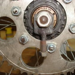 modified sprocket fits into frame